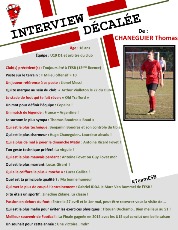 Interview décalée de Thomas Chaneguier